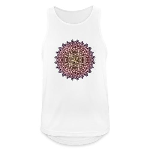 Mandala Sonnenuntergang - Männer Tank Top atmungsaktiv