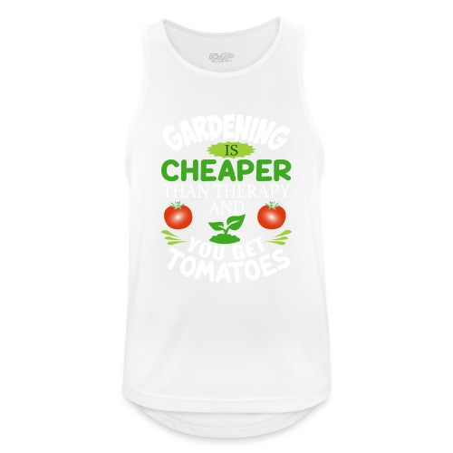 Garten Gartenarbeit Therapie Tomaten Hobbygärtner - Männer Tank Top atmungsaktiv