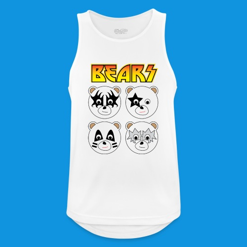 Kiss Bears square.png - Men's Breathable Tank Top
