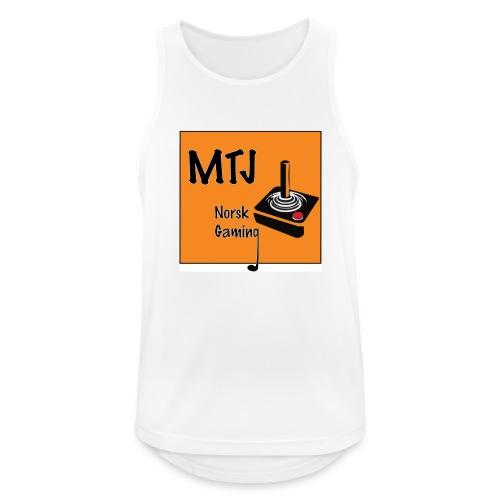 Mtj Logo - Pustende singlet for menn