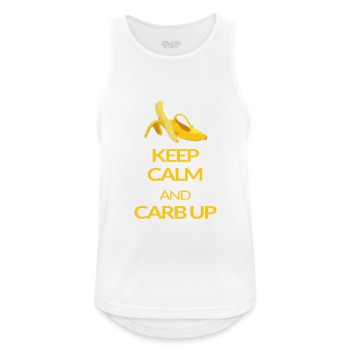KEEP CALM and CARB UP - Männer Tank Top atmungsaktiv