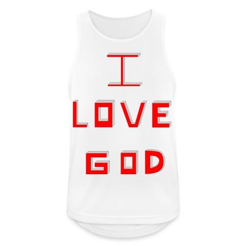 I LOVE GOD - Camiseta sin mangas hombre transpirable