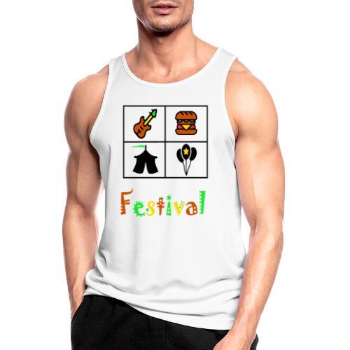 Festival Saison - Männer Tank Top atmungsaktiv