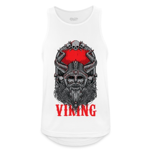Viking T Shirt Design red - Miesten tekninen tankkitoppi