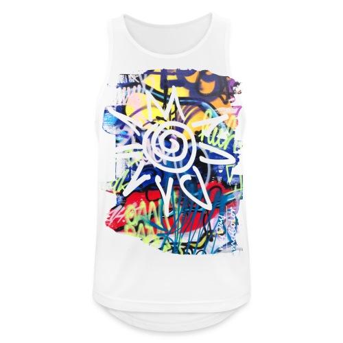 CityColors / Graffiti Sonne - Männer Tank Top atmungsaktiv