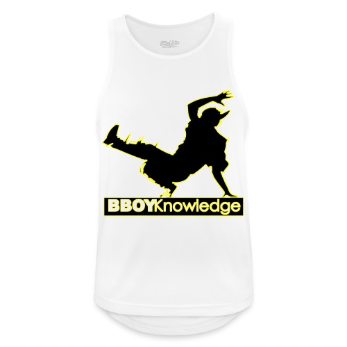 Bboy Knowledge Logo Variation Yellow - Débardeur respirant Homme