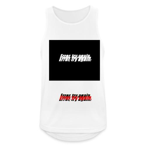 error, try again - Camiseta sin mangas hombre transpirable