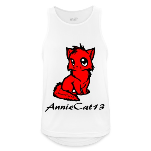 annie cat logo for with writing png - Men's Breathable Tank Top