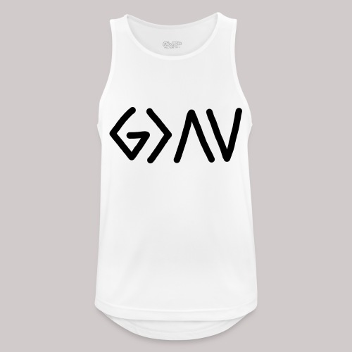 Dios es lo más grande - Camiseta sin mangas hombre transpirable