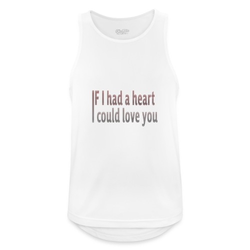 if i had a heart i could love you - Men's Breathable Tank Top
