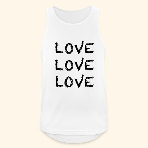 LOVE Black 001 - Männer Tank Top atmungsaktiv