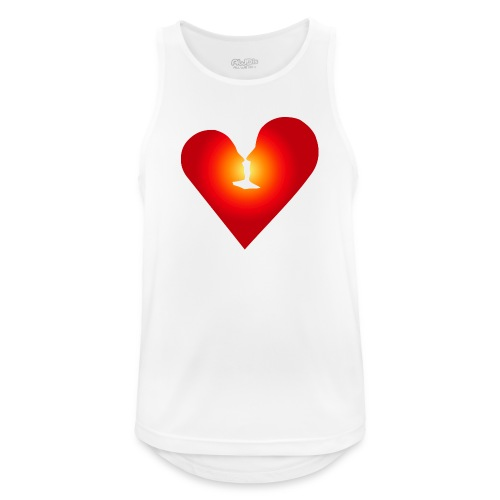 Ein Herz in Liebe - Männer Tank Top atmungsaktiv