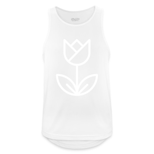 Tulip white png - Men's Breathable Tank Top