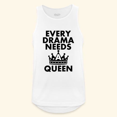 EVERY DRAMA black png - Men's Breathable Tank Top