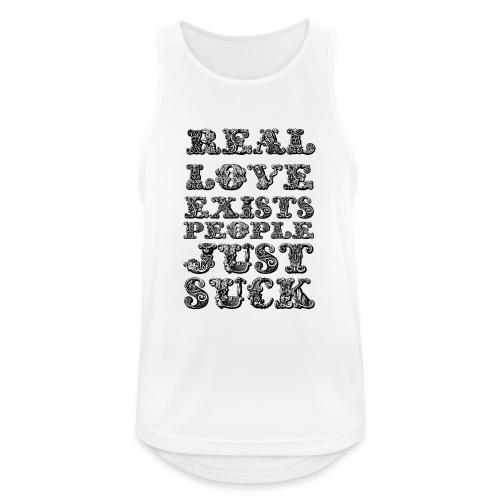 Real Love Exists REBEL INC. - Tank top męski oddychający