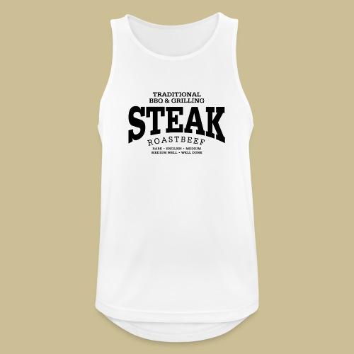 Steak (black) - Männer Tank Top atmungsaktiv