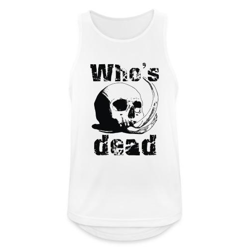 Who's dead - Black - Canotta da uomo traspirante