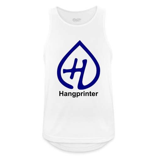 Hangprinter logo and text - Andningsaktiv tanktopp herr