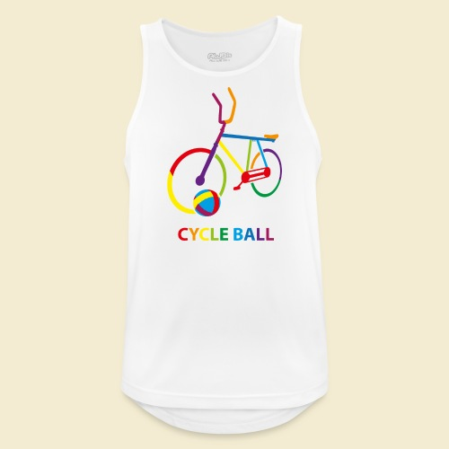 Radball | Cycle Ball Rainbow - Männer Tank Top atmungsaktiv