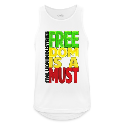 Freedom is a must - Men's Breathable Tank Top