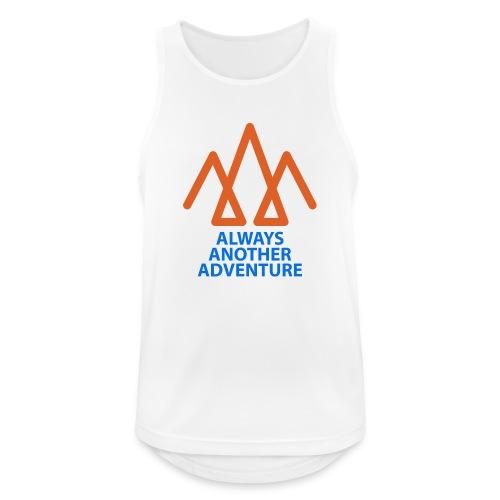 Orange logo, blue text - Men's Breathable Tank Top