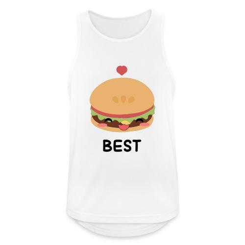 hamburger - Canotta da uomo traspirante