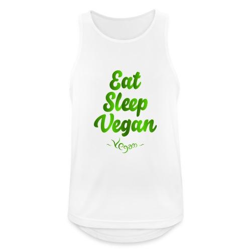 Eat Sleep Vegan - Miesten tekninen tankkitoppi
