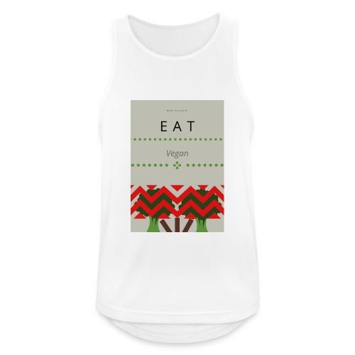Eat Vegan - Tank top męski oddychający