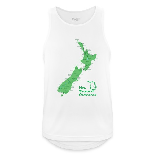 New Zealand's Map - Men's Breathable Tank Top