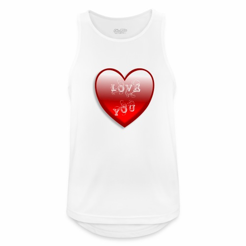 Love You - Männer Tank Top atmungsaktiv