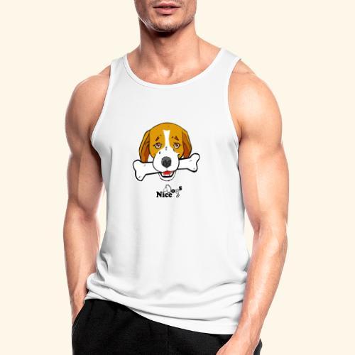 Nice Dogs Semolino - Canotta da uomo traspirante