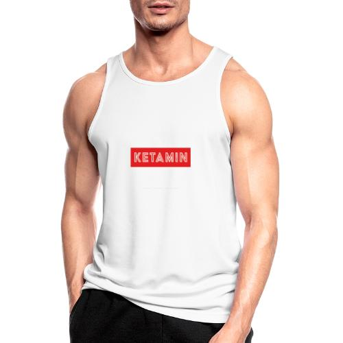 KETAMIN Rock Star - Weiß/Rot - Modern - Men's Breathable Tank Top