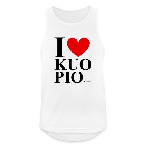 I LOVE KUOPIO ORIGINAL (musta) - Miesten tekninen tankkitoppi