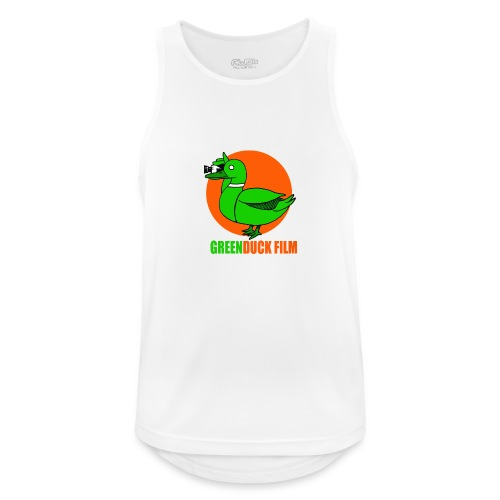 Greenduck Film Orange Sun Logo - Herre tanktop åndbar