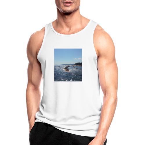 Mer avec roches - Débardeur respirant Homme