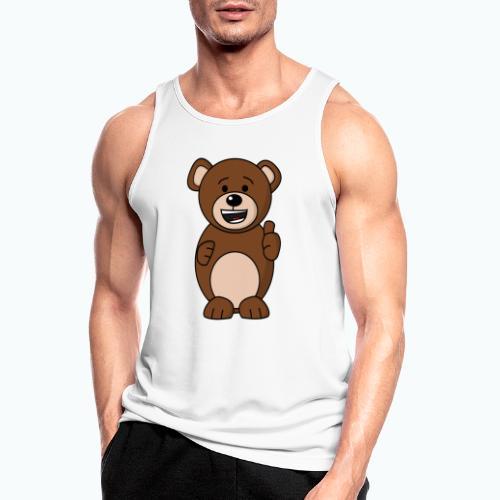 Bruno Bear Happy - Appelsin - Andningsaktiv tanktopp herr