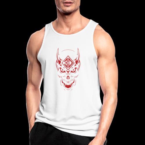 devil skull red - Débardeur respirant Homme