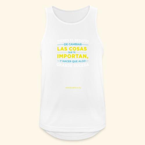 Cambia las cosas - Camiseta sin mangas hombre transpirable