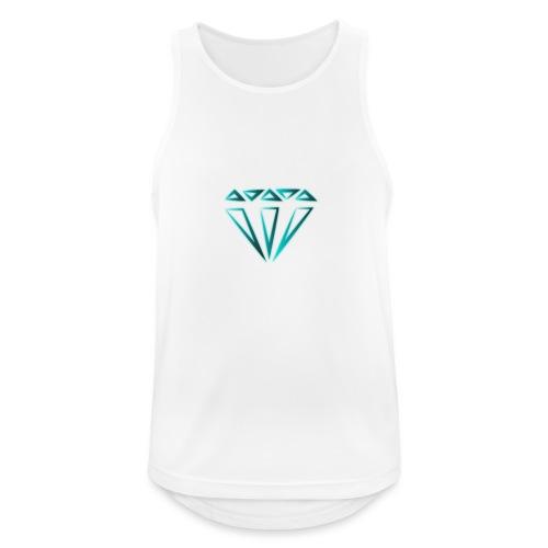 diamante - Canotta da uomo traspirante
