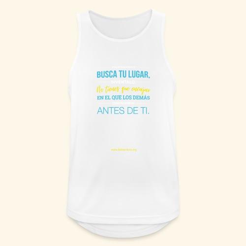 Busca tu lugar - Camiseta sin mangas hombre transpirable