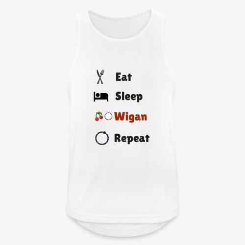 Eat Sleep Wigan Repeat - Men's Breathable Tank Top