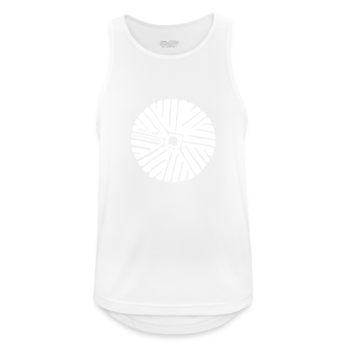 White chest logo sweat - Men's Breathable Tank Top