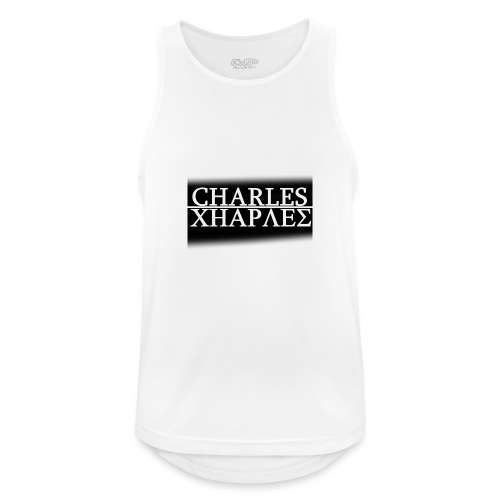 CHARLES CHARLES BLACK AND WHITE - Men's Breathable Tank Top