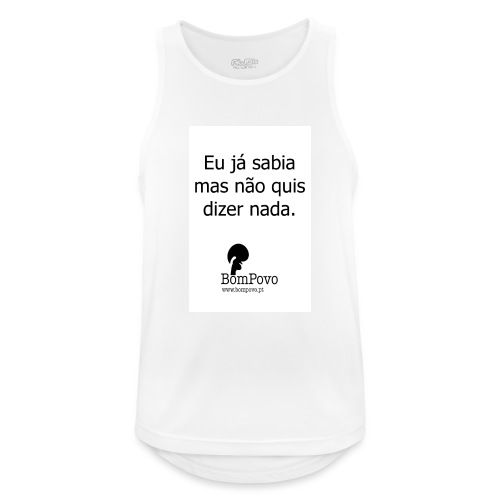 eujasabiamasnaoquisdizernada - Men's Breathable Tank Top