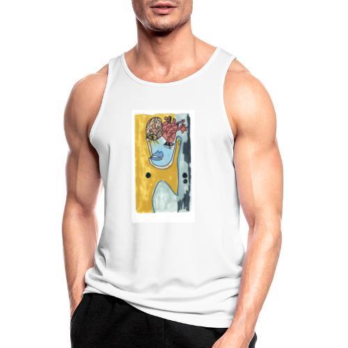 Corazo y cerebro - Camiseta sin mangas hombre transpirable