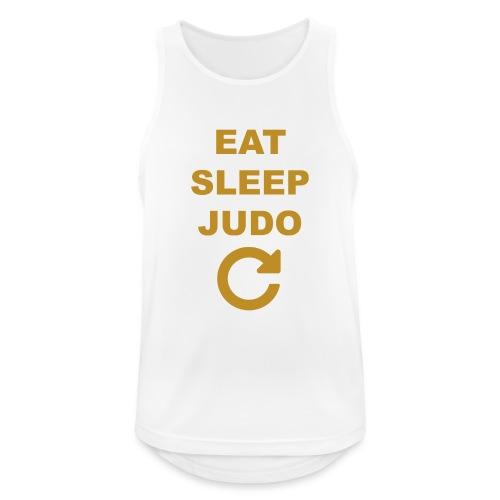 Eat sleep Judo repeat - Tank top męski oddychający