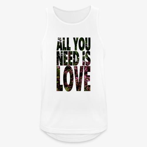 All You need is love - Tank top męski oddychający