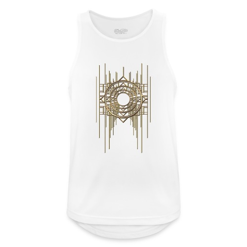 Abstract Geometry Gold Metal Art Deco Vintage - Men's Breathable Tank Top