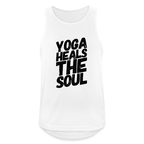 yoga heals the soul - Mannen tanktop ademend actief