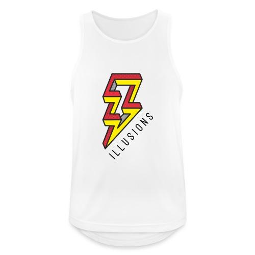 ♂ Lightning - Männer Tank Top atmungsaktiv